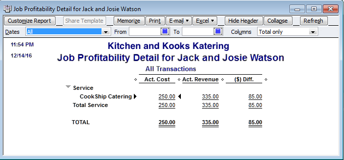 using items and profitability reporting quickbooks
