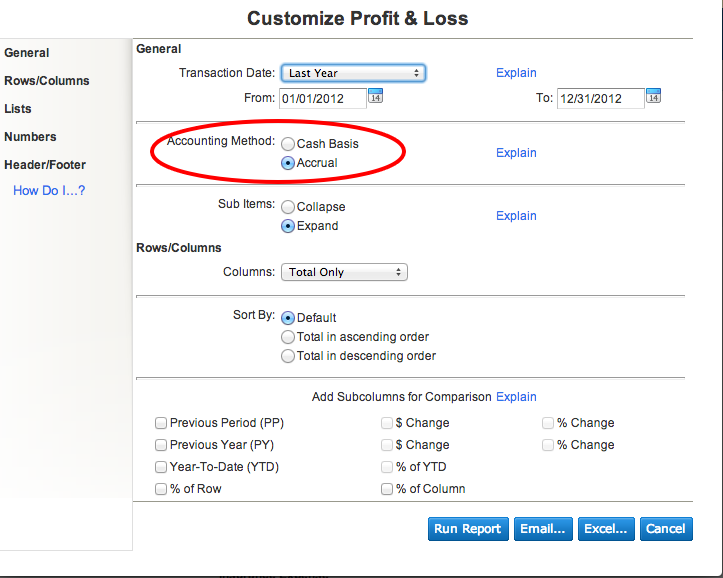reporting basis quickbooks online