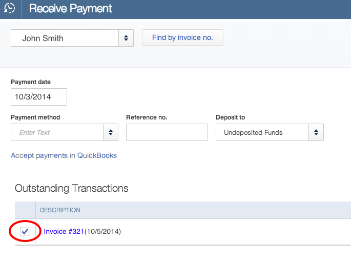 How To Receive Payment On Quickbooks Online