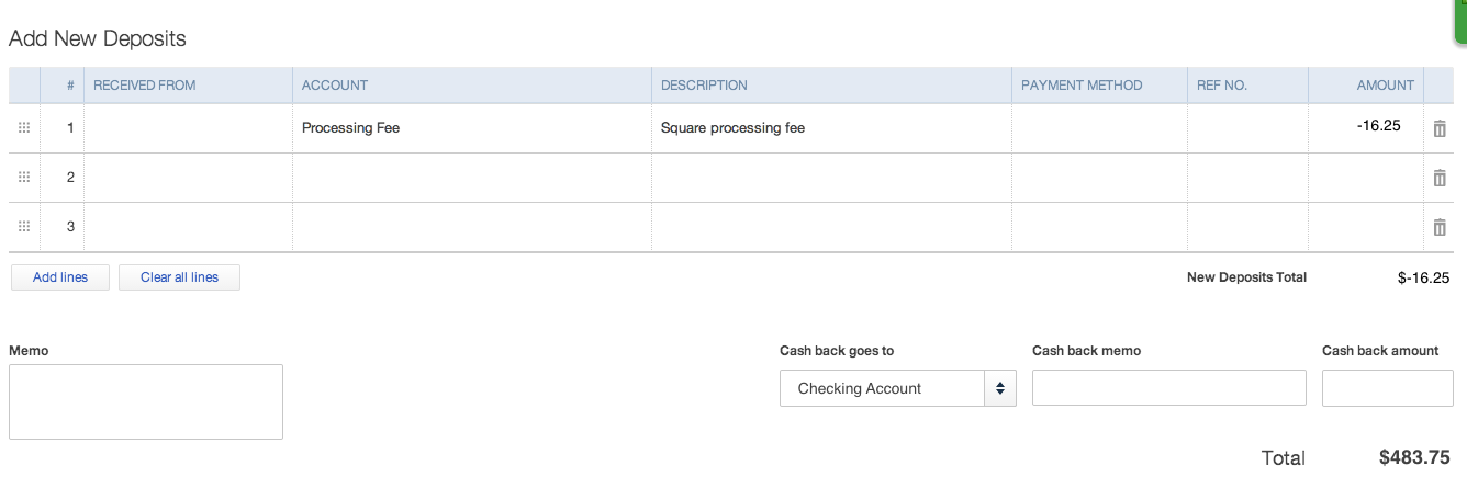 How To Record Square Payments In QuickBooks Online - Square invoice fee