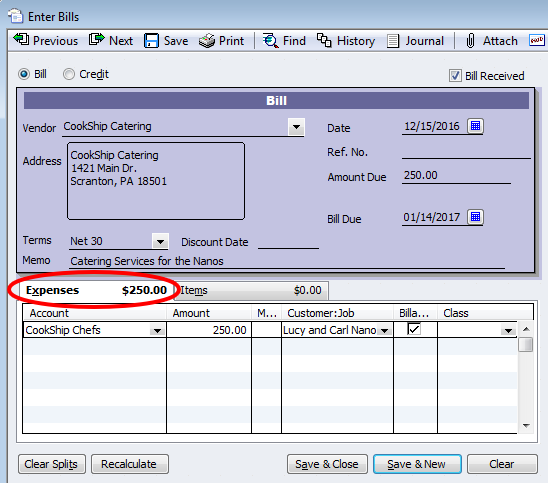 Two Ways To Record Expenses In QuickBooks
